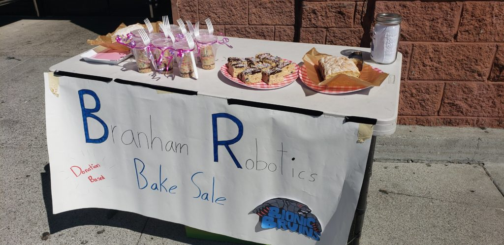 Our table at the bake sale
